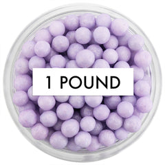 Pearly Light Purple Sugar Pearls 1 LB
