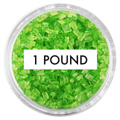 Lime Green Chunky Sugar 1 LB