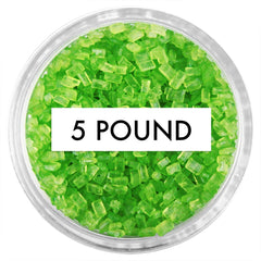 Lime Green Chunky Sugar 5 LB