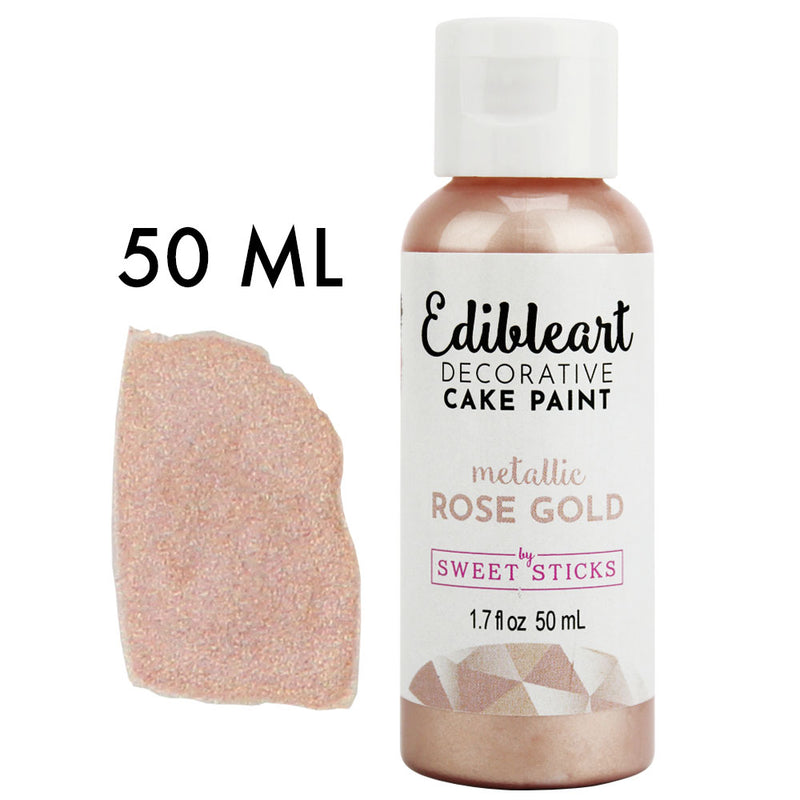 Rose Gold Metallic Edible Paint 50ML