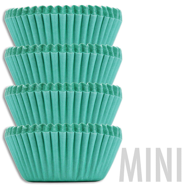 Mini Aqua Baking Cups
