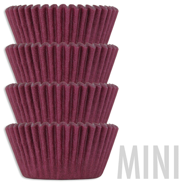 Mini Burgundy Baking Cups