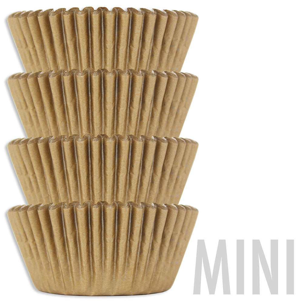 Mini Golden Shimmer Baking Cups