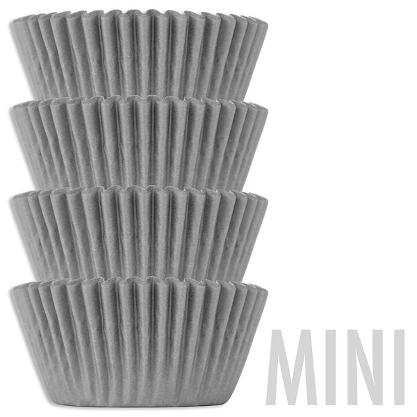 Mini Gray Shimmer Baking Cups