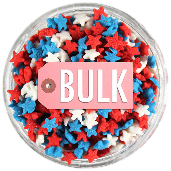 Mini RWB Star Sprinkles BULK