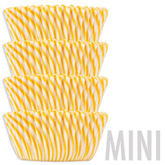 Mini Yellow Candy Stripe Baking Cups