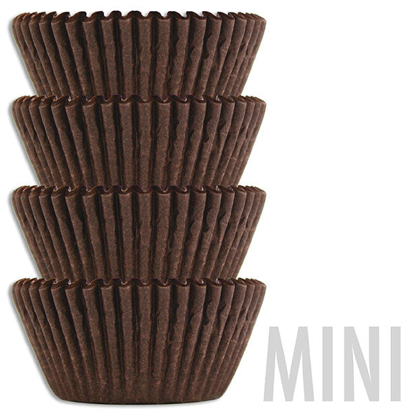 Mini Deep Brown Baking Cups