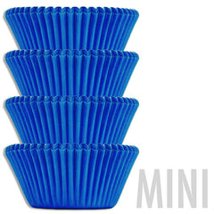Mini Electric Blue Baking Cups