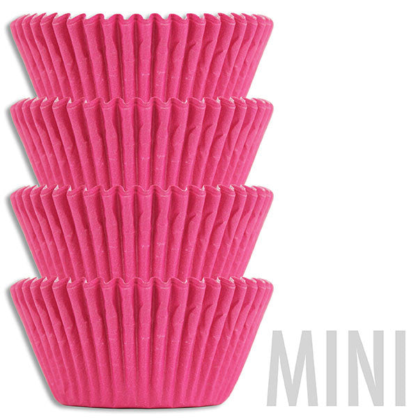 Mini Electric Pink Baking Cups