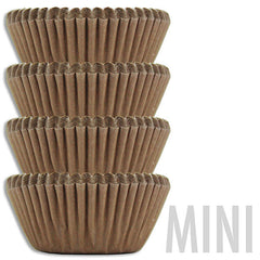 Mini Solid Brown Baking Cups
