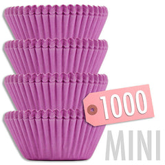 Mini Solid Lavender Baking Cups 1000