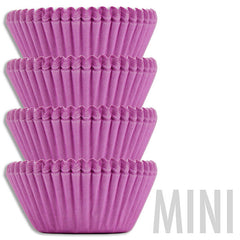Mini Solid Lavender Baking Cups