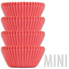 Mini Solid Salmon Pink Baking Cups