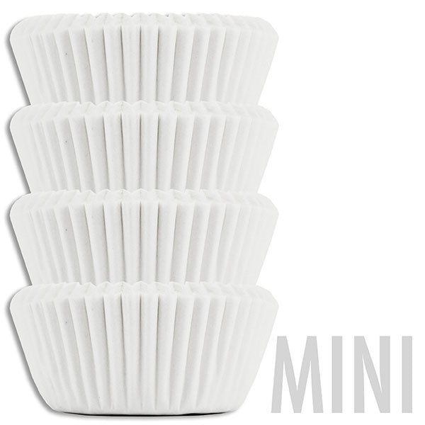 Mini Solid White Baking Cups