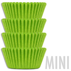 Mini Lime Green Baking Cups