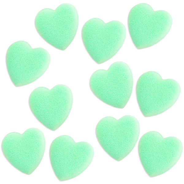 Mint Green Heart Sugars
