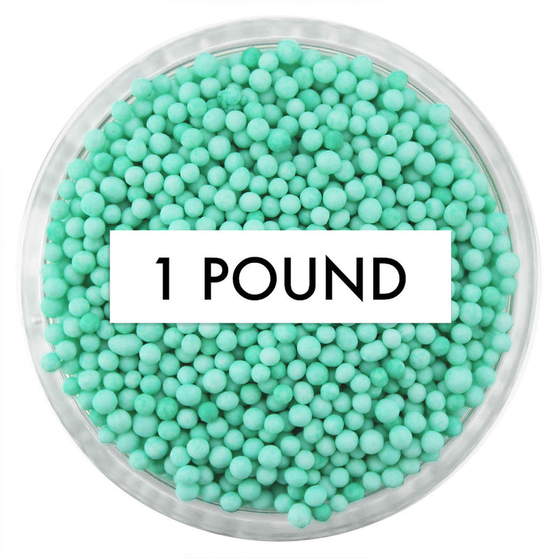 Mint Green Non-Pareils 1 LB