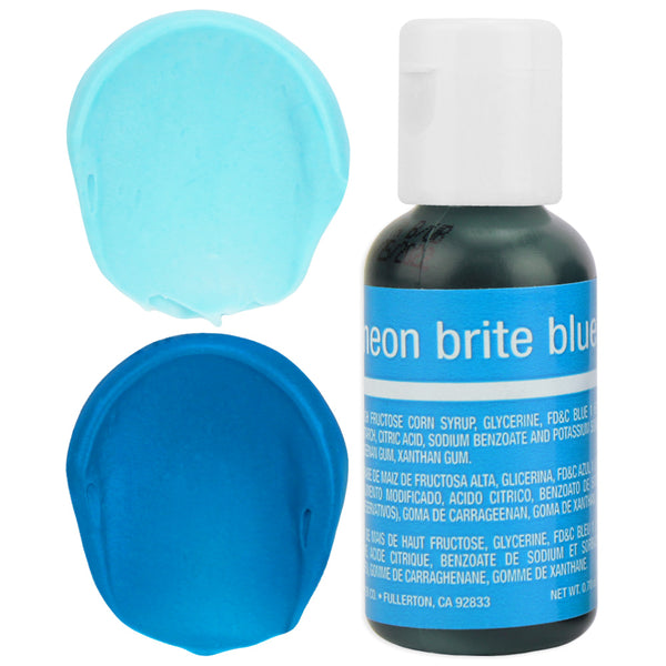 Neon Blue Chefmaster Gel Food Coloring