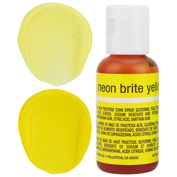 Neon Yellow Chefmaster Gel Food Coloring