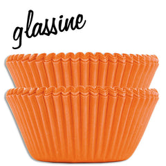 Orange Glassine Baking Cups