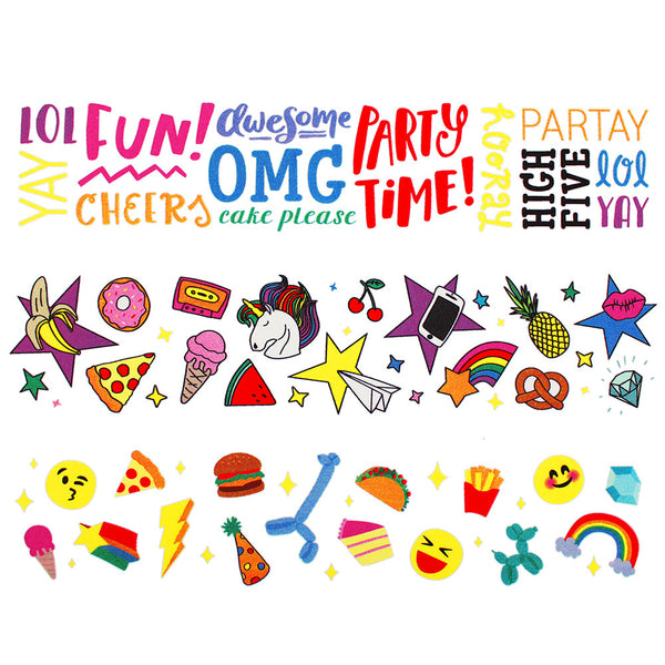 Party Doodles Edible Image Strips