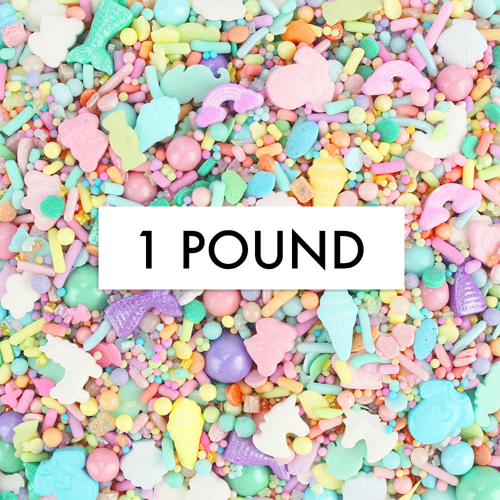 Pastel Rainbow Sprinkle Surprise Sprinkle Blend 1 LB