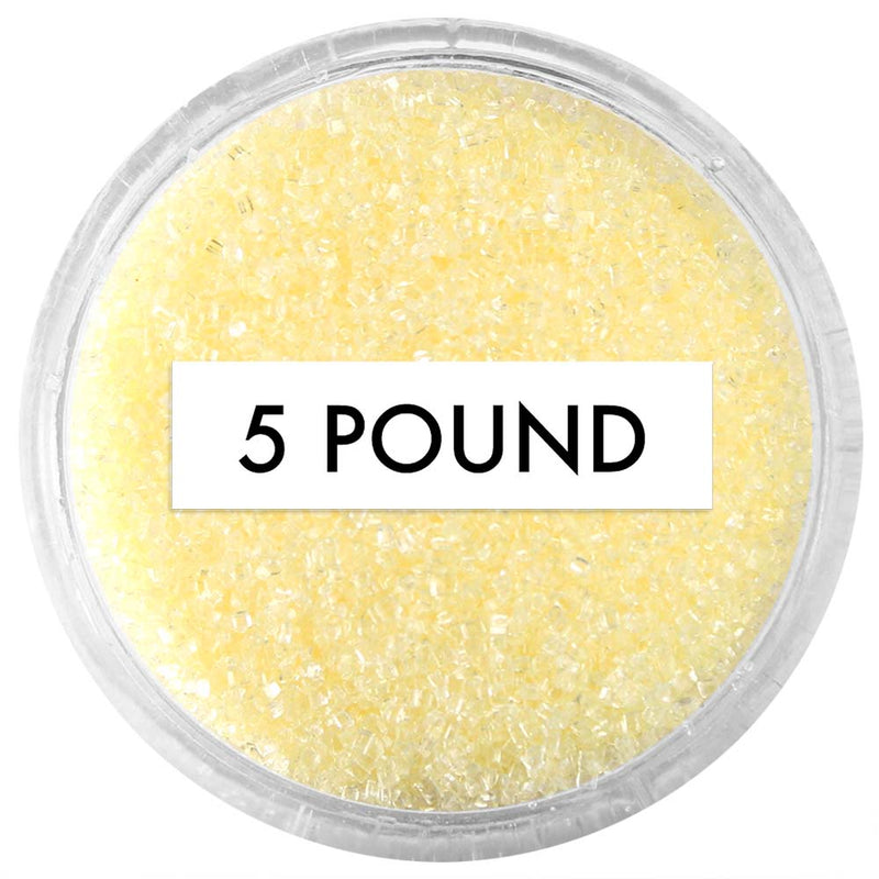 Pastel Yellow Sanding Sugar 5 LB