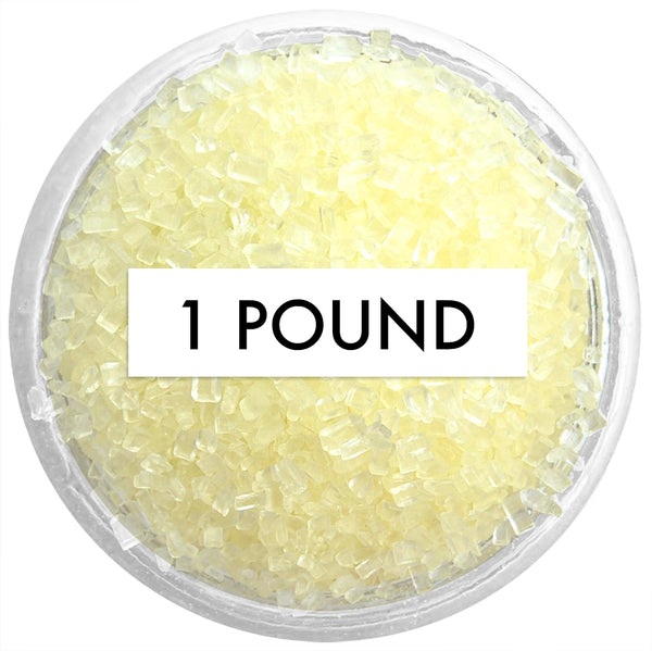 Pastel Yellow Chunky Sugar 1 LB
