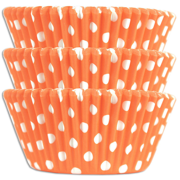 Peach Polka Dot Baking Cups