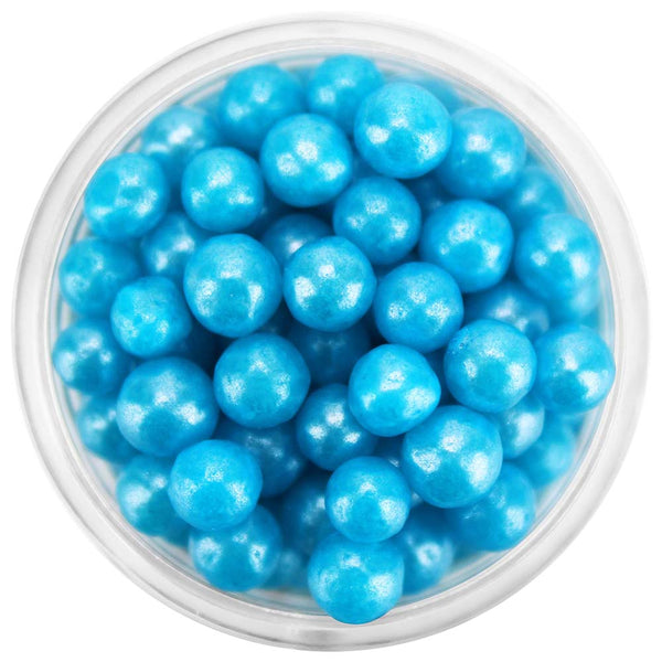 Pearly Bright Blue Sugar Pearls 5-6MM