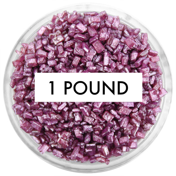 Pearly Burgundy Chunky Sugar 1 LB