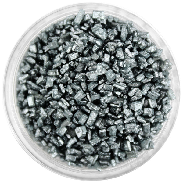 Pearly Charcoal Black Chunky Sugar