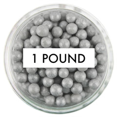 Pearly Gray Sugar Pearls 1 LB