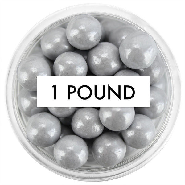 Pearly Gray Sugar Pearls 7MM 1 LB