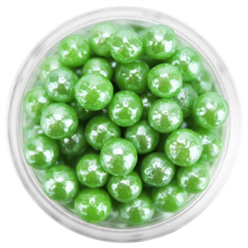 Pearly Green Sugar Pearls 5-6MM