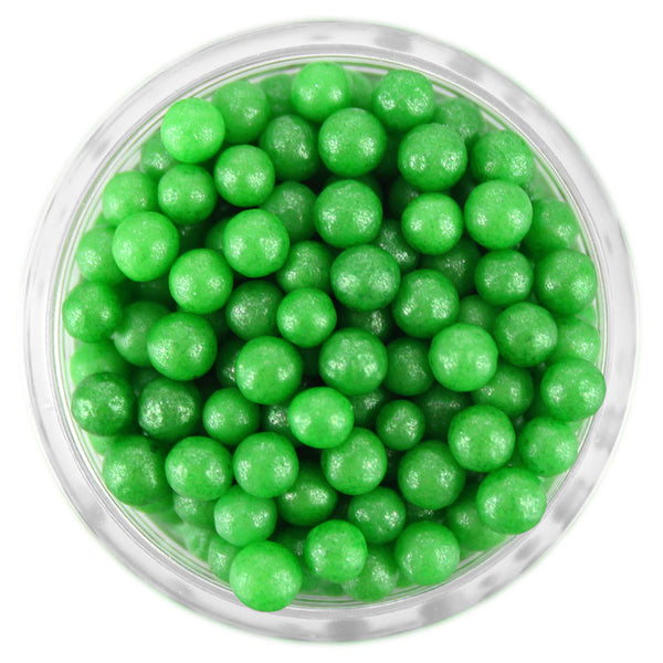 Pearly Green Sugar Pearls