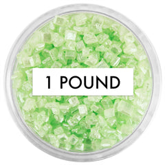 Pearly Light Green Chunky Sugar 1 LB