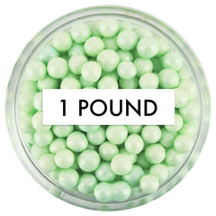 Pearly Light Green Sugar Pearls 1 LB