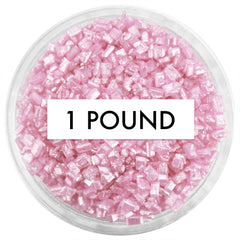 Pearly Light Pink Chunky Sugar 1 LB