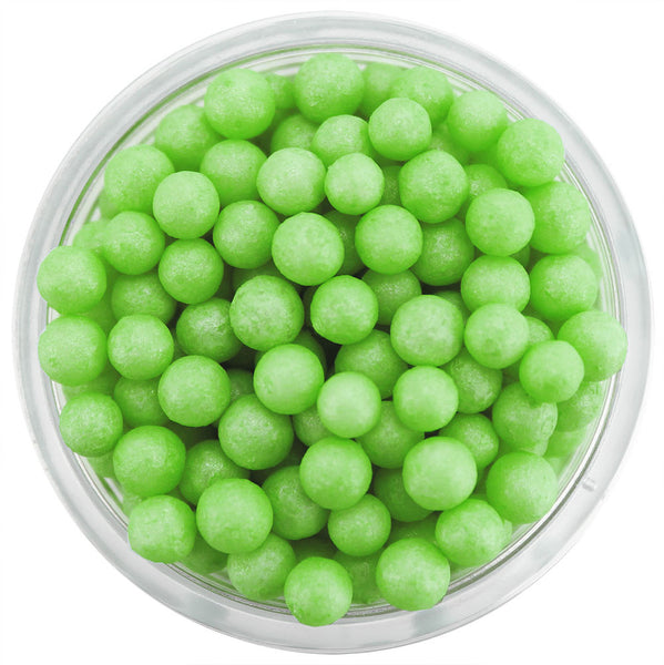 Pearly Lime Green Sugar Pearls
