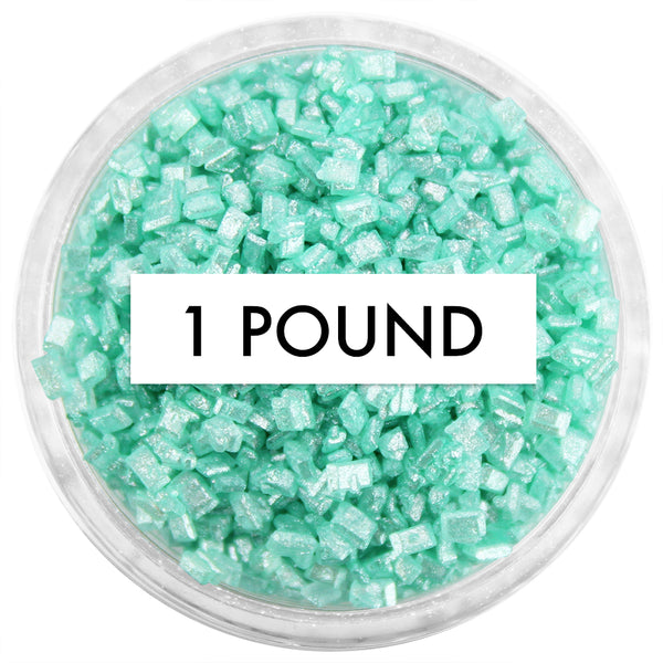 Pearly Mint Green Chunky Sugar 1 LB
