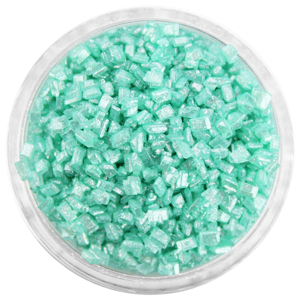 Pearly Mint Green Chunky Sugar