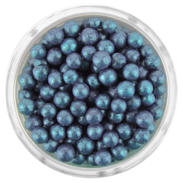 Pearly Navy Blue Sugar Pearls