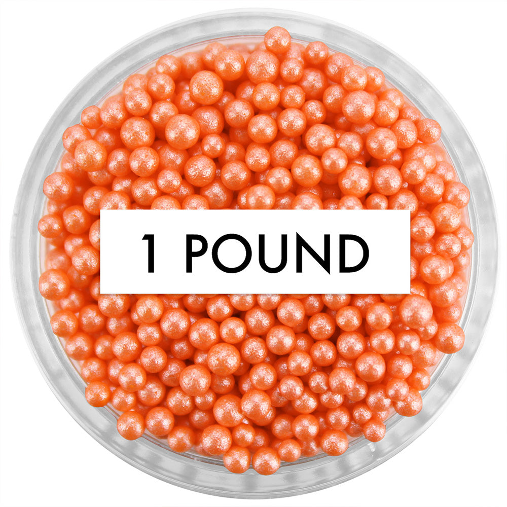 Pearly Orange Non-Pareils 1 LB