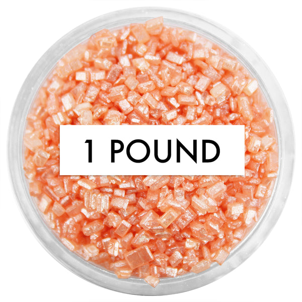 Pearly Peach Chunky Sugar 1 LB