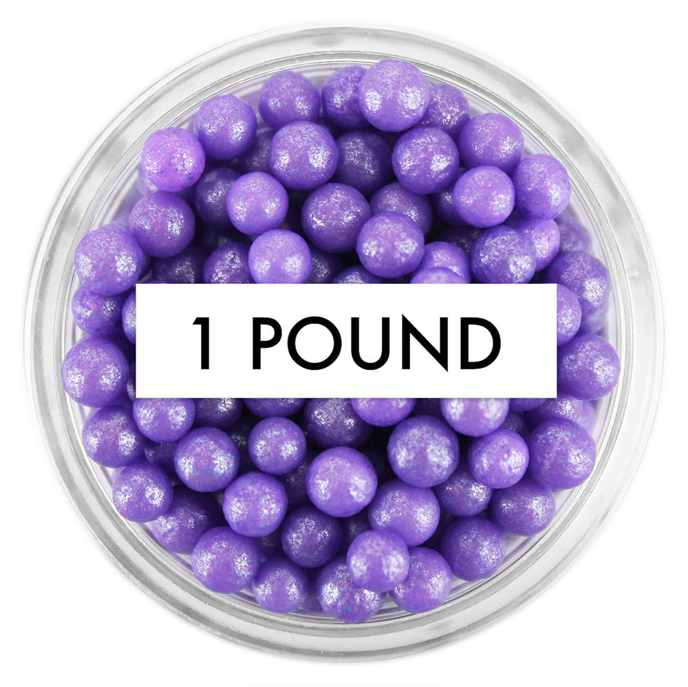 Pearly Purple Sugar Pearls 1 LB