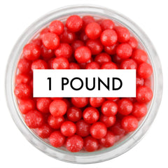 Pearly Red Sugar Pearls 1 LB