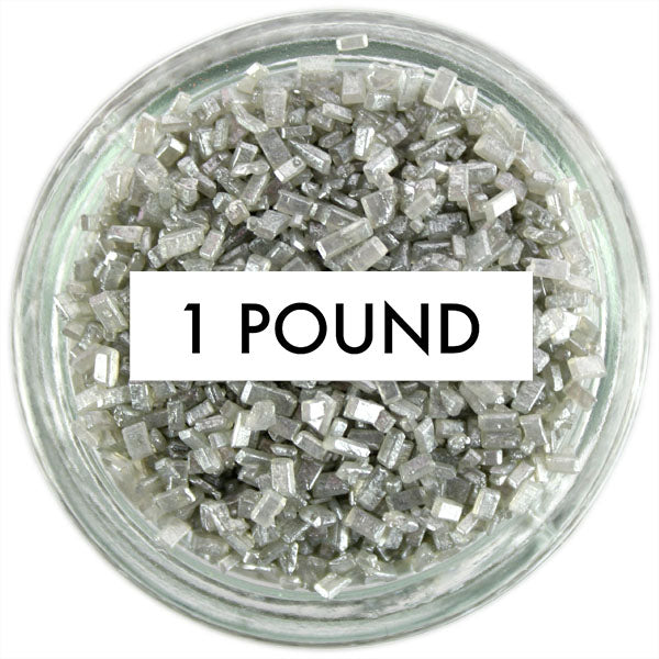 Pearly Silver Chunky Sugar 1 LB