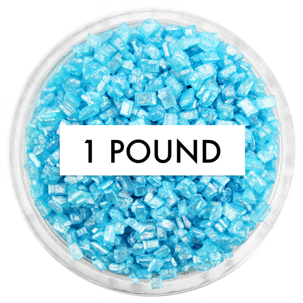 Pearly Sky Blue Chunky Sugar 1 LB