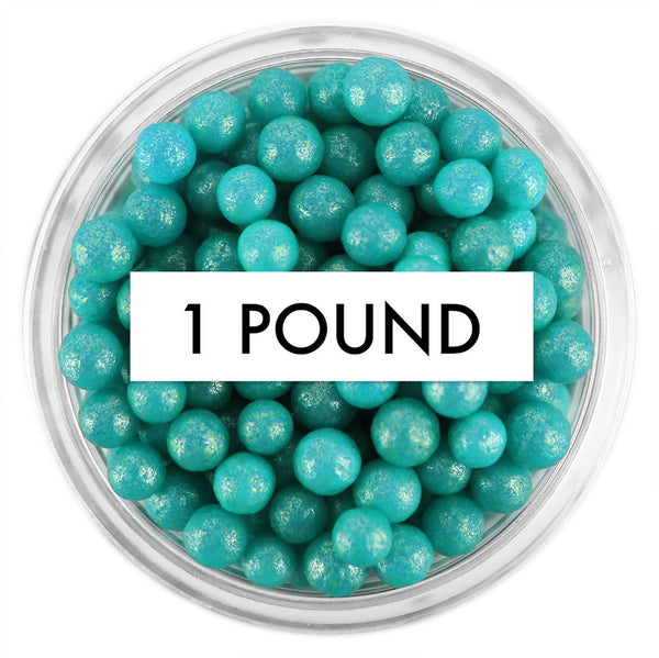 Pearly Teal Sugar Pearls 1 LB